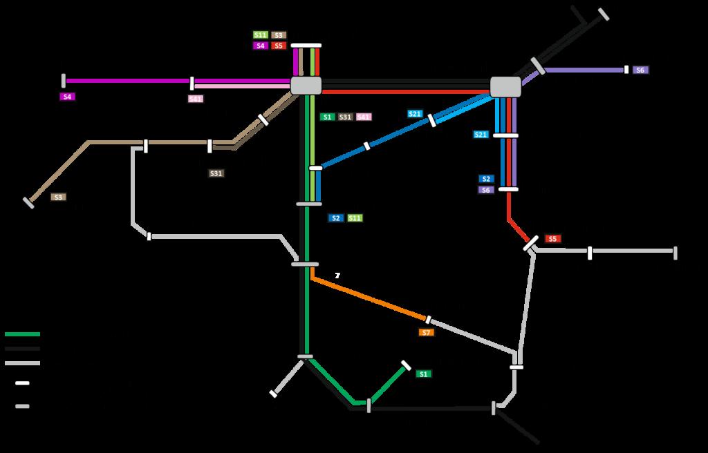 Regional-Stadtbahn Steckennetz Stand 04/2019